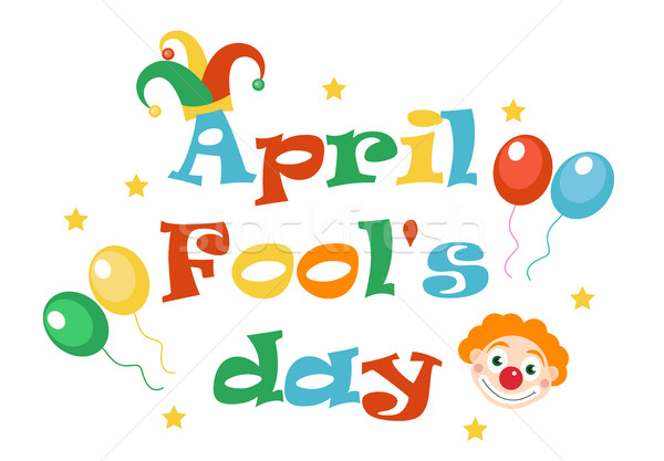 April Fools' Day vector. Holiday laughing card, poster. Vector illustration. Stock photo © lucia_fox