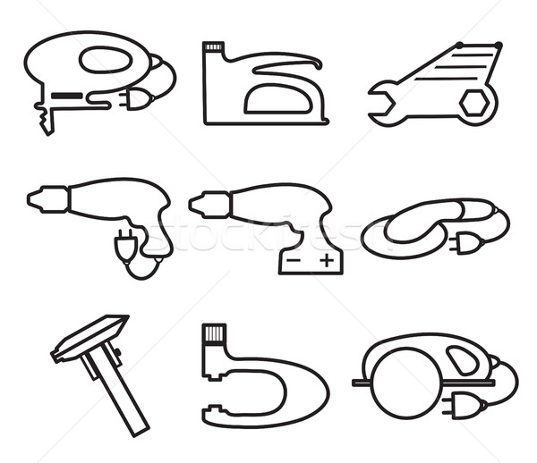 Mechanics Tools icons, modern line style. Element logo , isolated on a white background. Vector illu Stock photo © lucia_fox