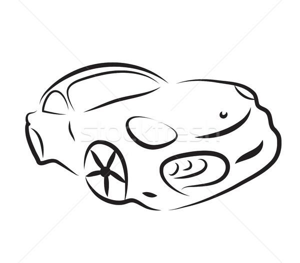 Foto stock: Carro · silhueta · logotipo · esboço · vetor · negócio