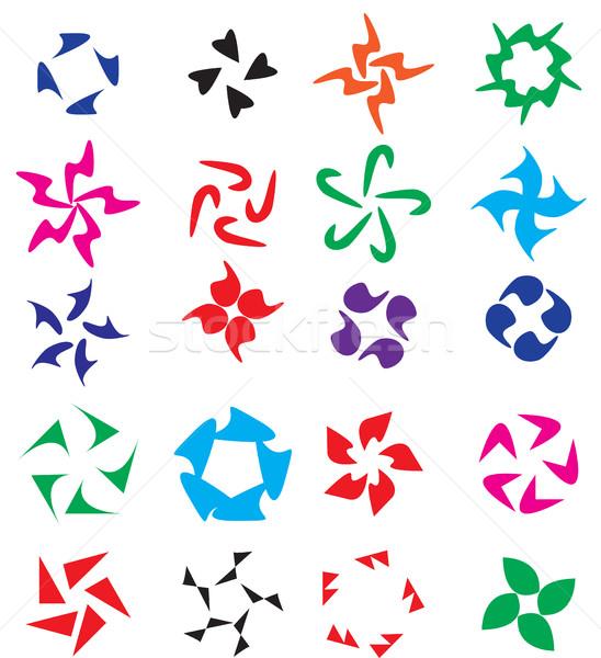Logo element set. Circular abstract elements onto a logo for your company. Vector illustration Stock photo © lucia_fox