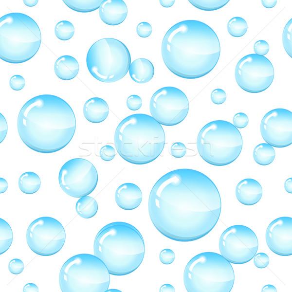 Szappanbuborékok végtelen minta buborékok víz kör folyadék Stock fotó © lucia_fox