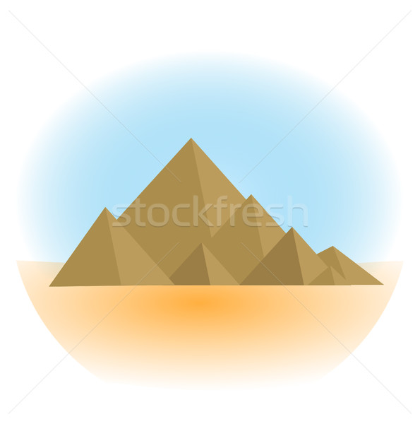 Mountain icon, flat, cartoon style. Jewish religious holiday Shavuot, Mount Sinai concept. Isolated  Stock photo © lucia_fox