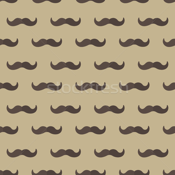 Mustache seamless patterns. Father's Day holiday concept repeating texture, endless background. Vect Stock photo © lucia_fox