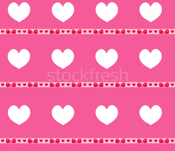 Heart seamless pattern. Valentines Day endless background. Pink texture, wallpaper. Cute backdrop. V Stock photo © lucia_fox