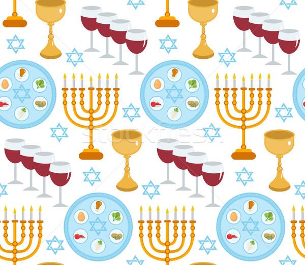 Yahudilerin hamursuz bayramı sonsuz doku tatil arka plan Stok fotoğraf © lucia_fox