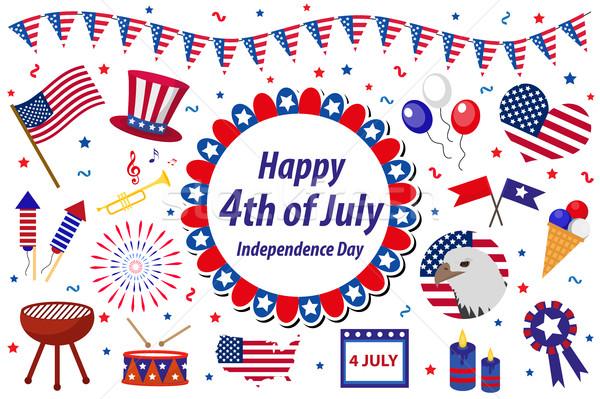 Dag amerika viering usa Stockfoto © lucia_fox