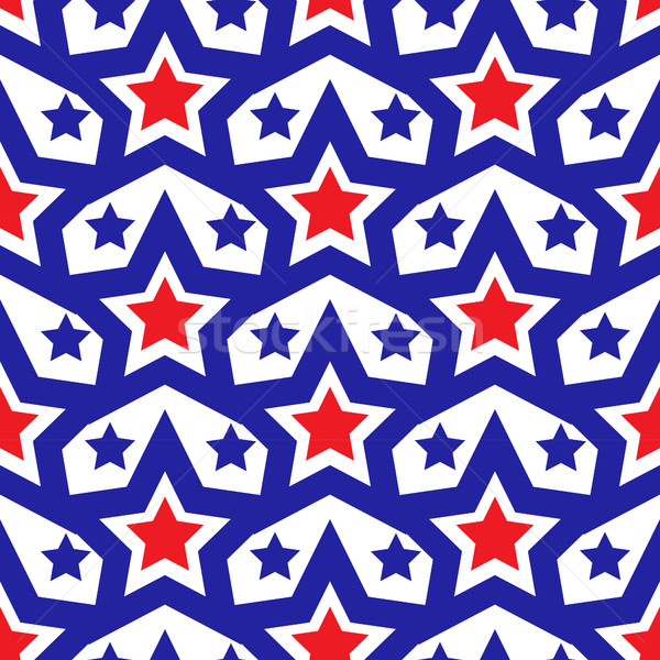American USA flag seamless patterns. Independence Day, July 4 concept, repeating texture, endless ba Stock photo © lucia_fox