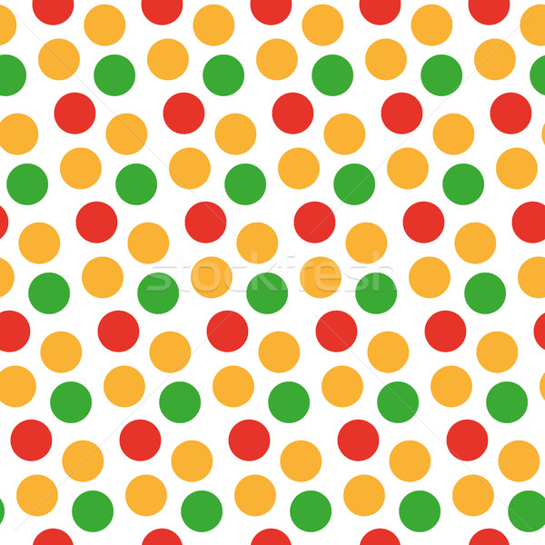 Kids seamless pattern with polka dots. Bright festive background, texture with circles. Vector illus Stock photo © lucia_fox