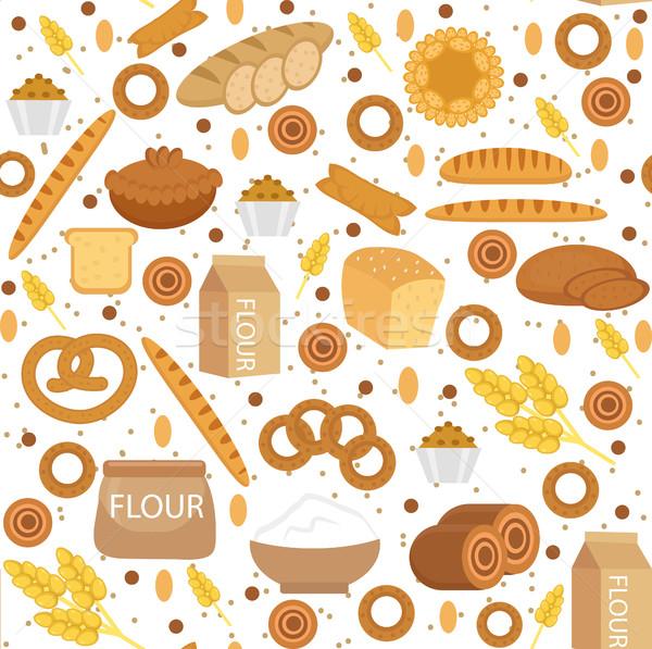 Boulangerie style pain texture farine Photo stock © lucia_fox