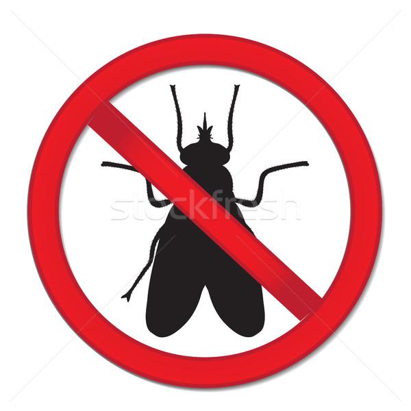 Rouge signe interdire volée stop insecte Photo stock © lucia_fox
