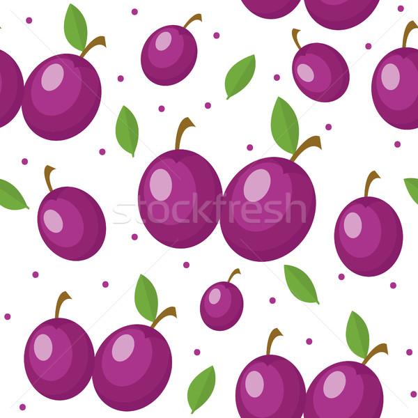 ストックフォト: 梅 · エンドレス · テクスチャ · 果物