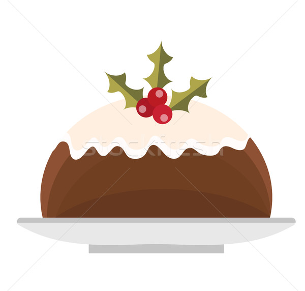 Pudding vector icon. Isolated on white background. Stock photo © lucia_fox