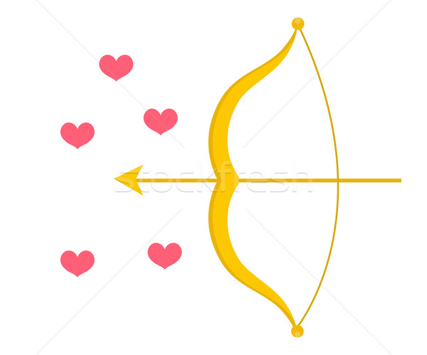 Cupid Bow icon, flat design. Isolated on white background. Vector illustration, clip art. Stock photo © lucia_fox
