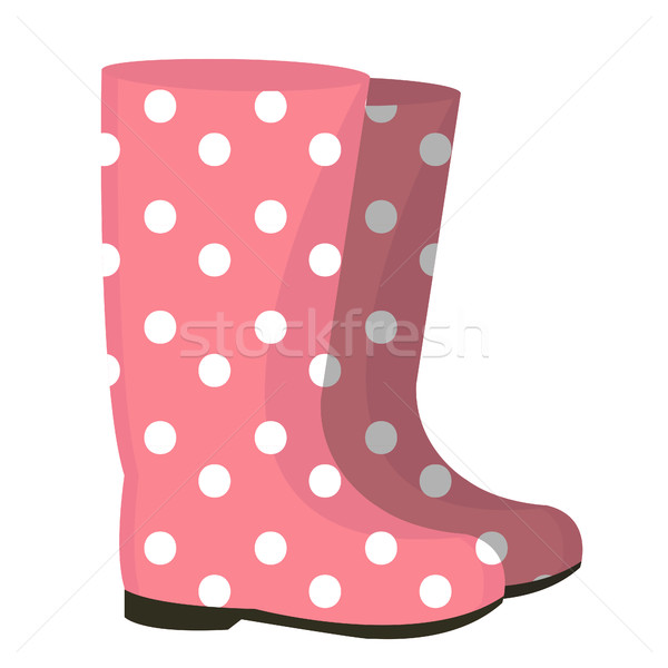 Rubber boots icon. Gumboots isolated on white background. Wellingtons vector illustration. Stock photo © lucia_fox