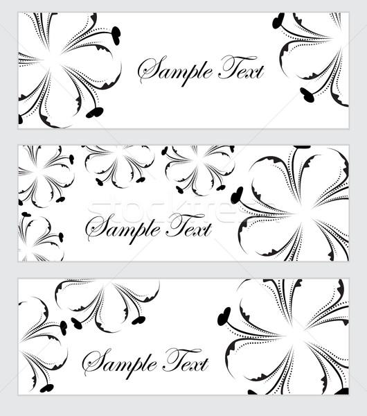Floral banner establecer estilo mano dibujo Foto stock © lucia_fox