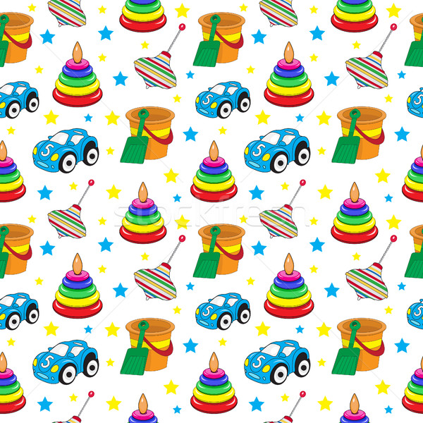 Baby speelgoed naadloos textuur behang kinderen kind Stockfoto © lucia_fox
