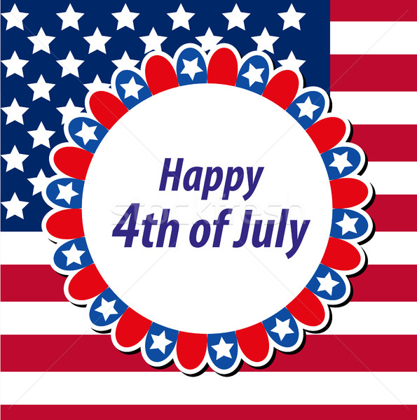 Happy 4th july greeting card, poster. American Independence Day template for your design. Vector ill Stock photo © lucia_fox