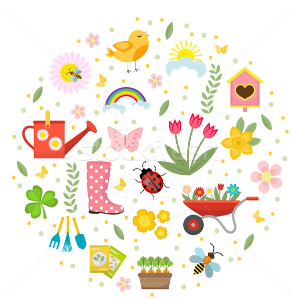 Foto stock: Primavera · forma · estilo · jardinagem · bonitinho