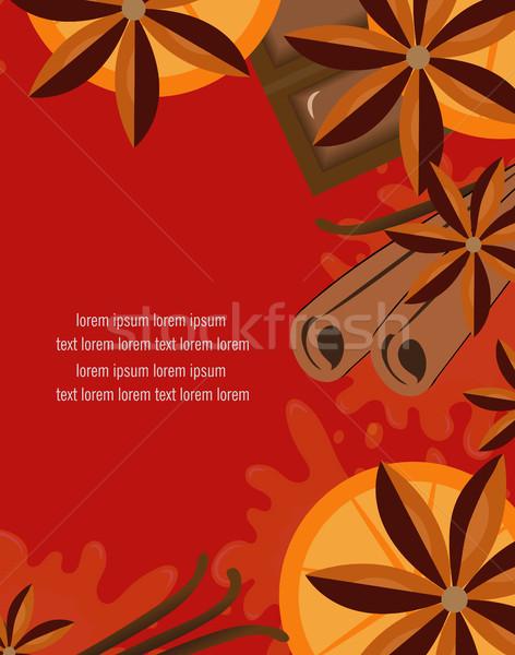 красный оранжевый корицей шоколадом вино пространстве Сток-фото © lucia_fox