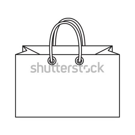 Boodschappentas icon doodle lijn stijl kleurrijk Stockfoto © lucia_fox