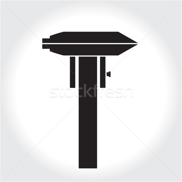 инструментом икона черный силуэта элемент логотип Сток-фото © lucia_fox