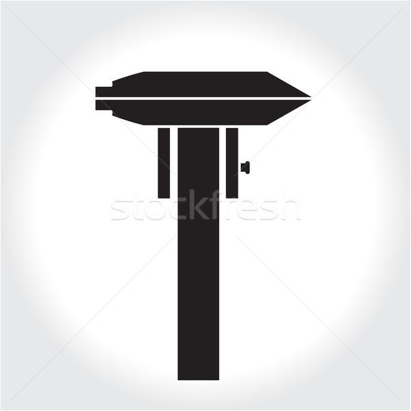 Caliper tool icon, black silhouette. Element logo   isolated on white background. Vector illustratio Stock photo © lucia_fox