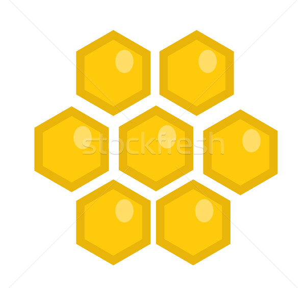 Honey comb icon, flat style. Isolated on white background. Vector illustration, clip-art. Stock photo © lucia_fox
