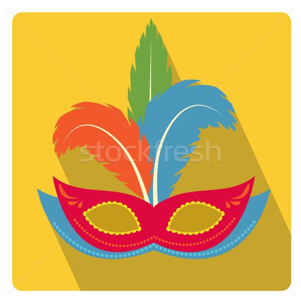 карнавальных маске икона стиль долго Сток-фото © lucia_fox
