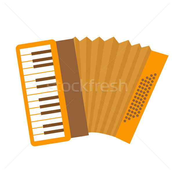 Accordeon icon cartoon stijl muziekinstrument geïsoleerd Stockfoto © lucia_fox