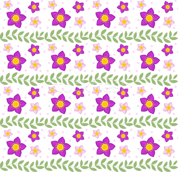 Floral seamless pattern. Flowers repeating texture. Botanical endless background. Vector illustratio Stock photo © lucia_fox
