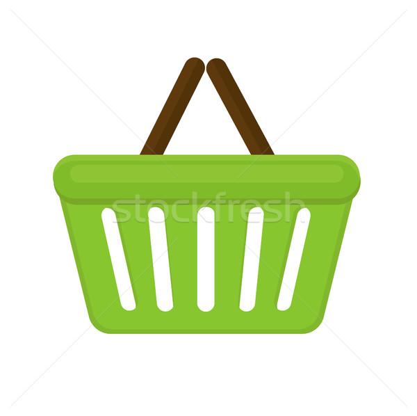 Carrinho de compras ícone estilo isolado branco saco Foto stock © lucia_fox