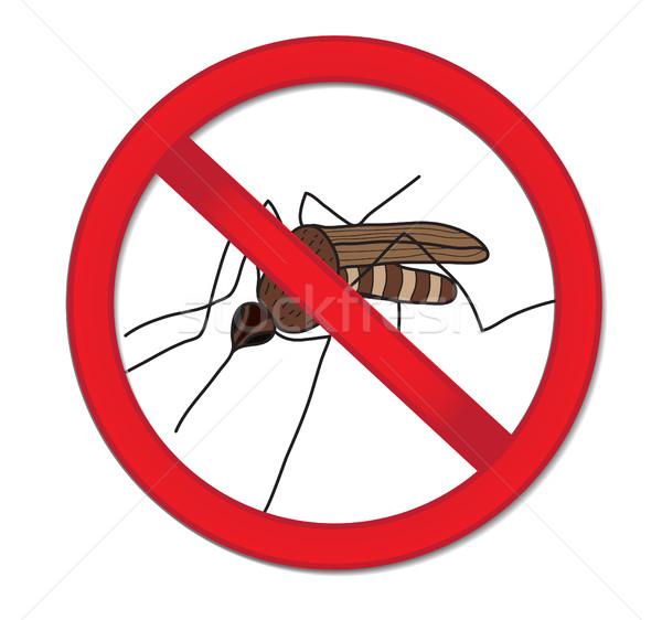 Rosso segno vietare zanzara stop insetto Foto d'archivio © lucia_fox