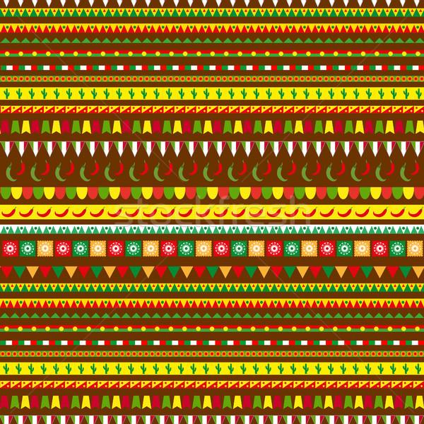 伝統的な 飾り メキシコ料理 民族 ストックフォト © lucia_fox