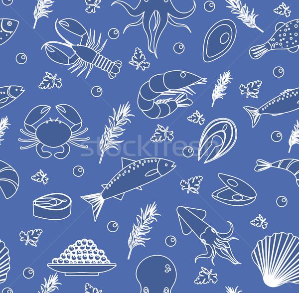 морепродуктов рыбы продовольствие бесконечный текстуры Сток-фото © lucia_fox