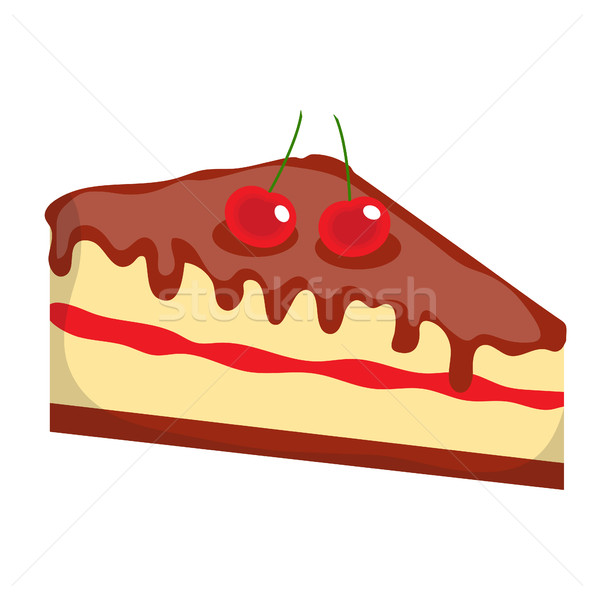 Cheesecake, cake icon, flat, cartoon style.Isolated on white background. Vector illustration, clip-a Stock photo © lucia_fox