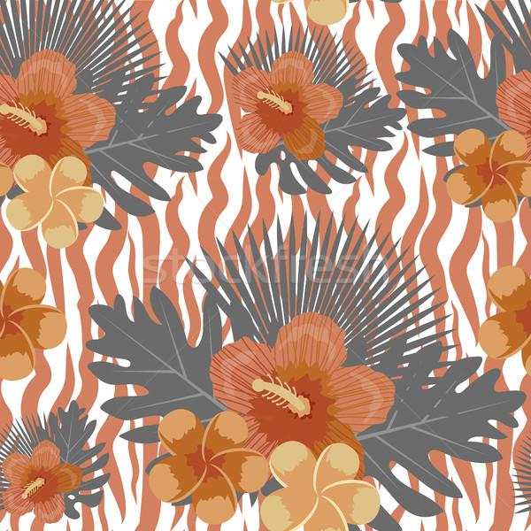 Stok fotoğraf: Tropikal · çiçekler · bitkiler · yaprakları · hayvan · cilt