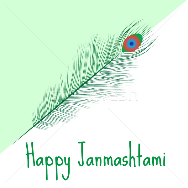 Happy janmashtami, Indian feast of the birth of Krishna. Greeting card janmashtami. Invitation janma Stock photo © lucia_fox