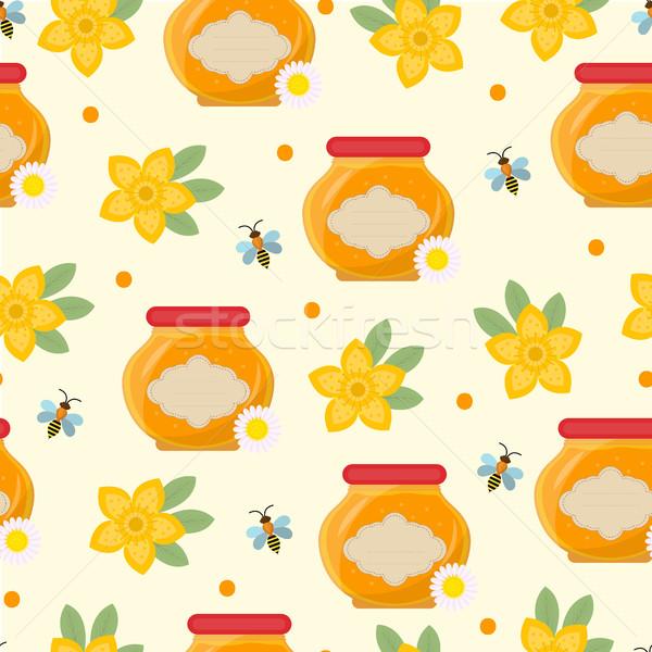 Сток-фото: меда · бесконечный · текстуры · цветок · стороны