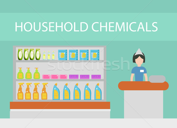 Store household chemicals, cleaning agents, detergents, cosmetics. The department store with househo Stock photo © lucia_fox