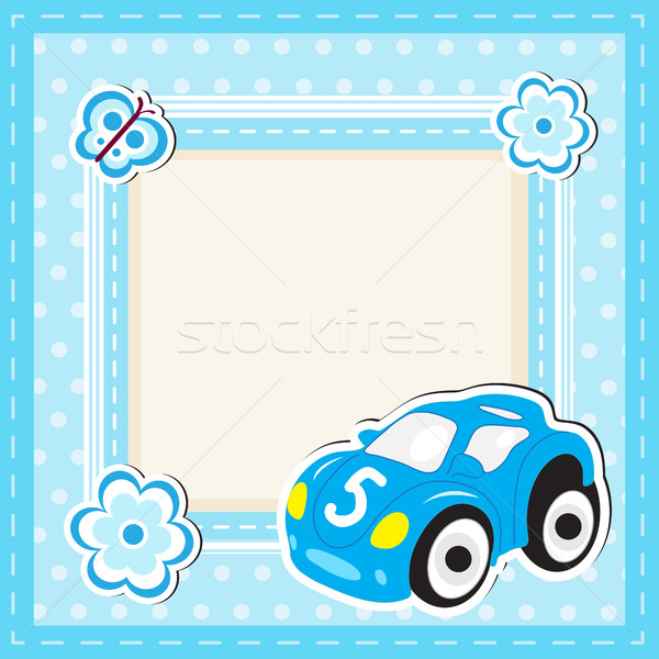 おもちゃ 車 グリーティングカード スペース 文字 子供 ストックフォト © lucia_fox
