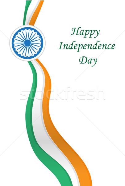 Gelukkig Indië dag wenskaart banner ontwerp Stockfoto © lucia_fox