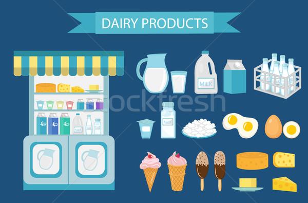 молоко продукции стиль изолированный белый Сток-фото © lucia_fox