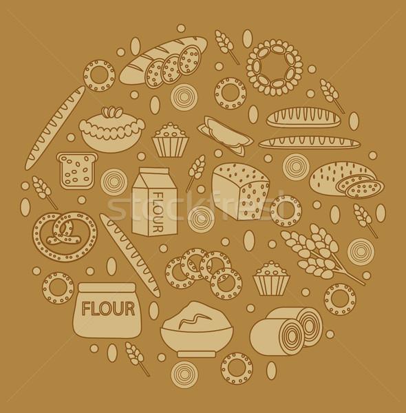хлебобулочные продукции продовольствие стороны кофе торт Сток-фото © lucia_fox