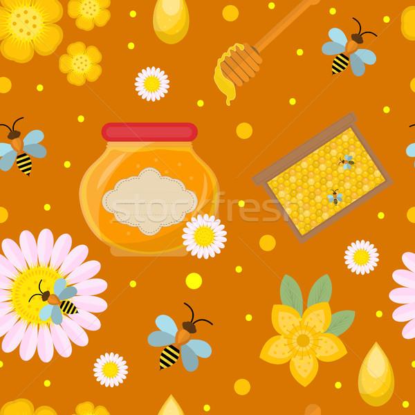 меда бесконечный текстуры цветок стороны Сток-фото © lucia_fox