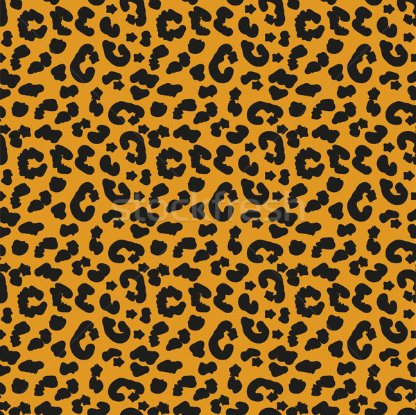 Leopard skin seamless pattern. African animals concept endless background, repeating texture. Vector Stock photo © lucia_fox