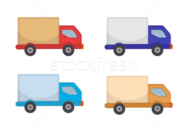 Delivery Truck Icon, flat style. Lorry, isolated on white background. Vector illustration, clip art Stock photo © lucia_fox