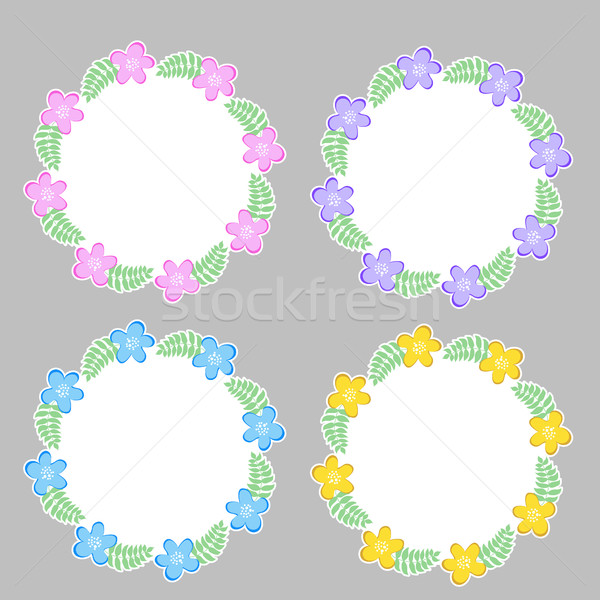 Floral frame for text, summer frame. Vector illustration Stock photo © lucia_fox
