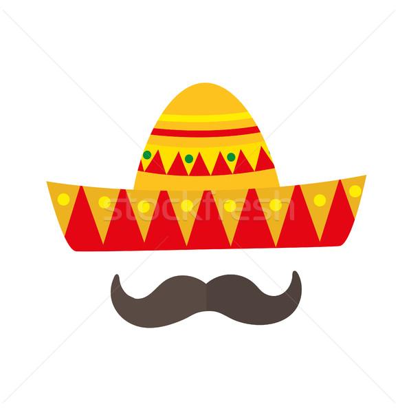 Sombrero icona stile mexican isolato Foto d'archivio © lucia_fox