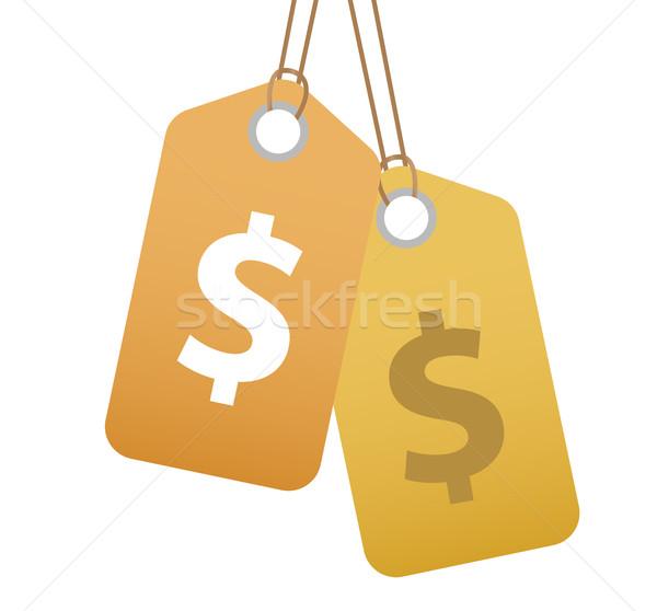 Alışveriş etiket dolar işareti ikon dizayn Stok fotoğraf © lucia_fox