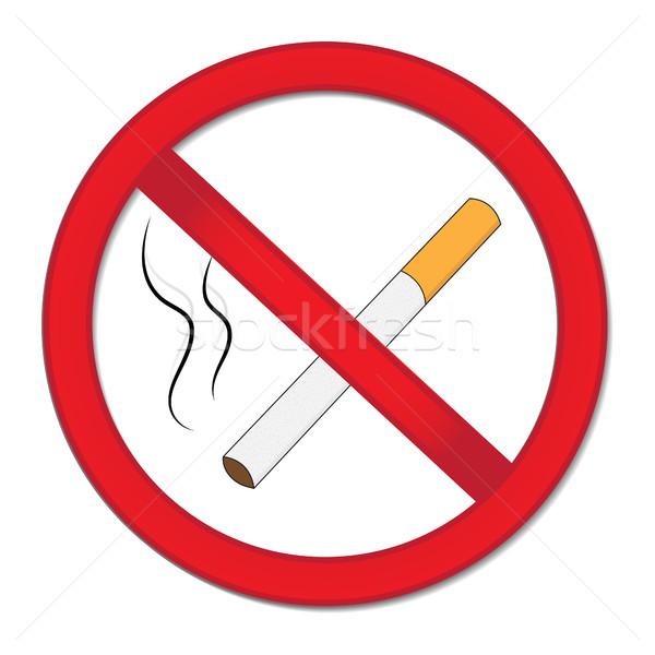 Piros felirat dohányzás tilalom stop cigaretta Stock fotó © lucia_fox